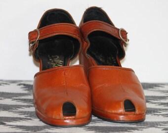 Peep toe  Wedge Shoes size 6-6.5