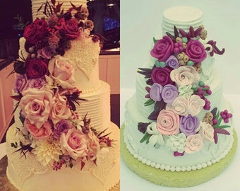 Extra Large Detailed Wedding Cake Ornament, Wedding Cake Replica, anniversary Gift, Newlywed, wedding cake replica, first christmas