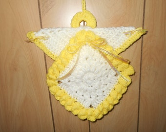 Hand crochet wall hanging Angel.