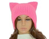 Cat Beanie,Pussyhat,Pink cat hat,Womens cat hat,Pink cat beanie,Pink pussyhat,Cat lovers gift,Winter hat,Pink Pussy hat -SALE