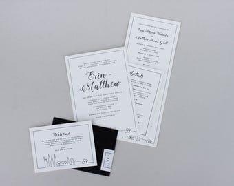 SAMPLE - Skyline Wedding Invitation