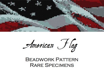 American Flag Peyote Stitch Beading Pattern