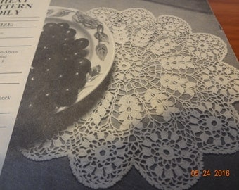 Vintage Crochet Pattern  Wheat Doily Pattern