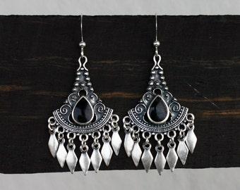 Bohemian Fringe Chandelier Earrings