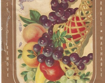 Vintage Meyercord Fruit Decals (840-D), 1950s