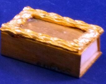 Vintage Gold Tone Match Box Safe, 1960s