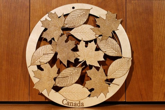 Leaves, Wall Art, Warm Pot Trivet, Pattern T8, Laser Engraved, Paul Szewc, Masterpiece Laser