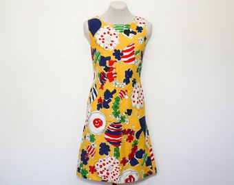vintage yellow mod dress | small