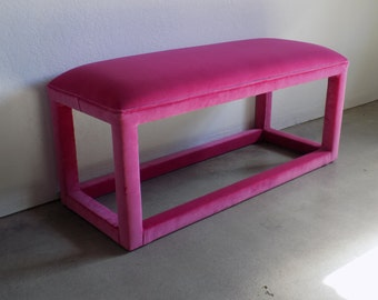 Custom Upholstered Bench - Design Your Own In ANY Fabric