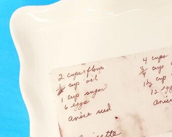 Custom Recipe Plate Custom Platter with Your Family Recipe recipe plate recipe platter handwritten recipe handwritten note signature