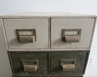 White Metal Card Catalog - Sold individually