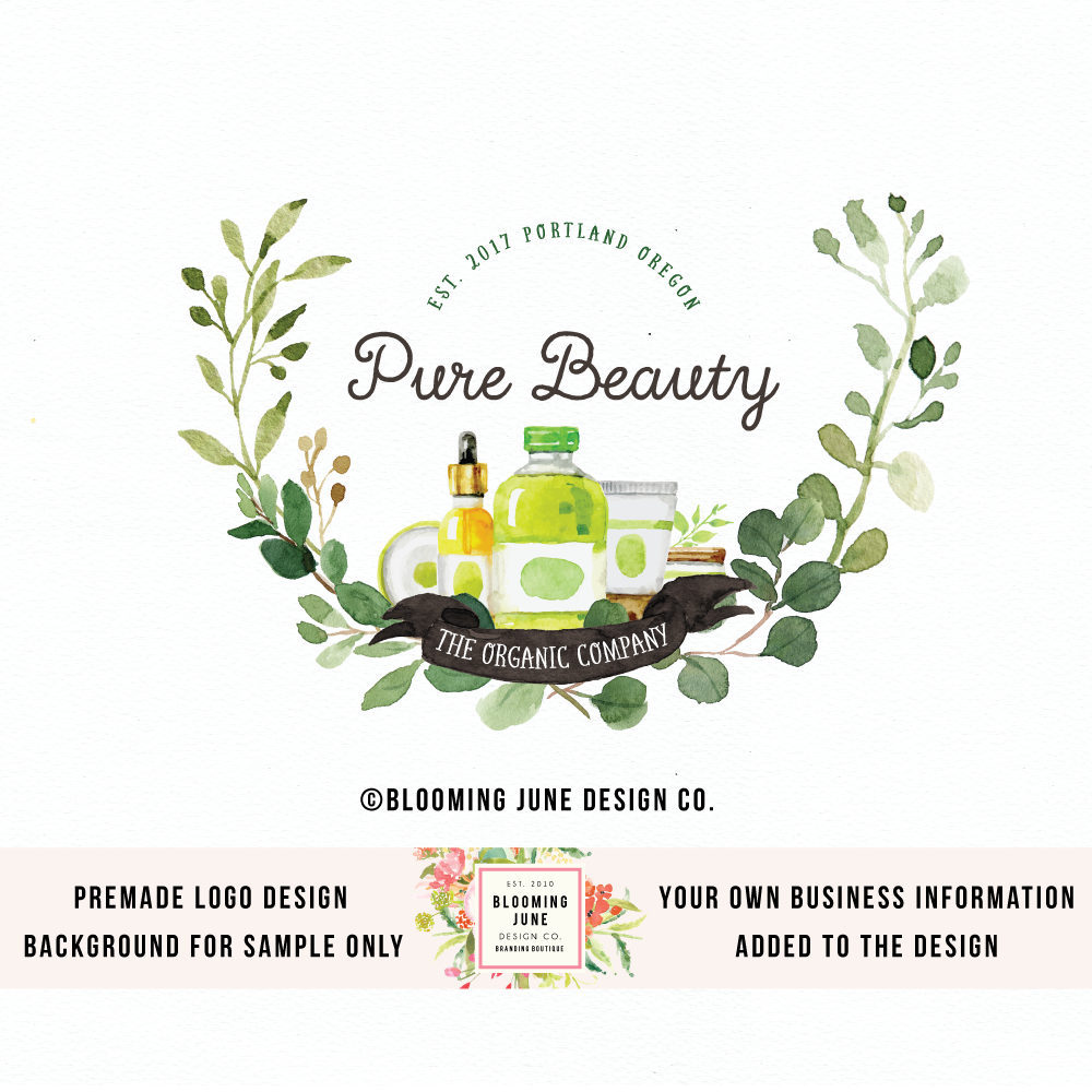 essential oils logo natural beauty logo beauty products logo