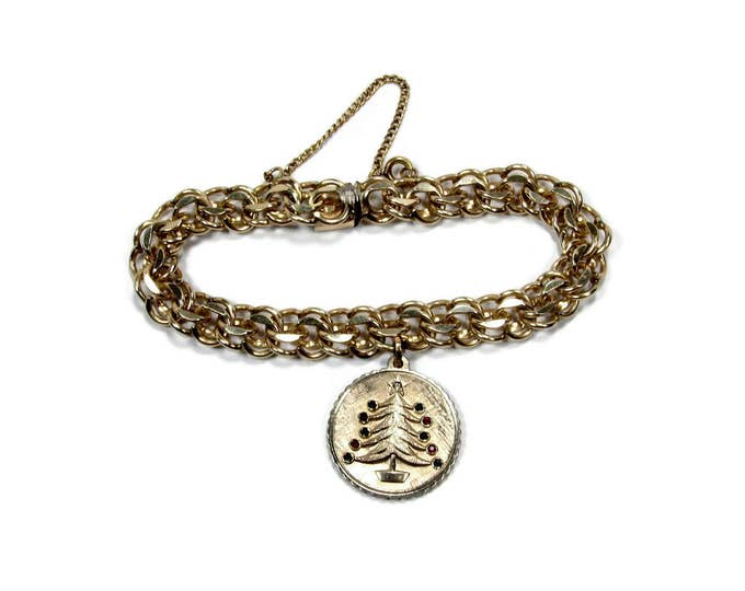 12K Gold Filled Winard Charm Bracelet with Christmas Charm