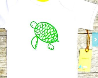 Turtle - Children - Toddler Onesie,  Romper or T-Shirt