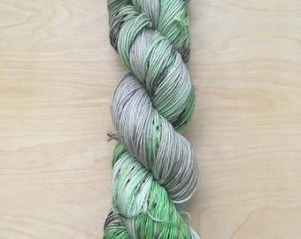 Slytherin house superwash merino sock yarn