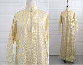 1970s Metallic Gold Sheer Robe