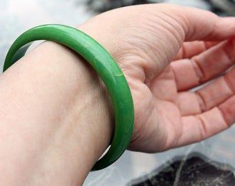 Green Marbled Bakelite Bangle