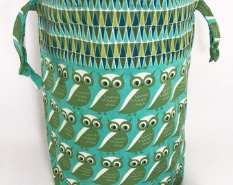 """New! """"Whooo Are You"""" Drawstring Project Bag"""