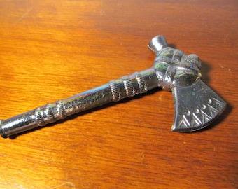 Vintage Degenhart Carnival Blue Small Tomahawk with Maker's Mark