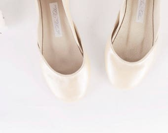 The Bridal Ballet Flats in Pearl White | Wedding Shoes in Pearl Glow | Ballerina Shoes for Brides in Pearl White
