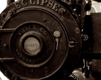 Train Home Decor, Eclipse Steam Engine Photo, Sepia Photography