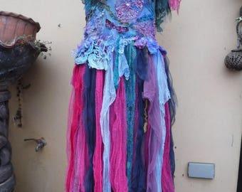"20%OFF bohemian gypsy lagenlook bridesmaid hippy mermaid shabby dress ...medium to 40"" bust"