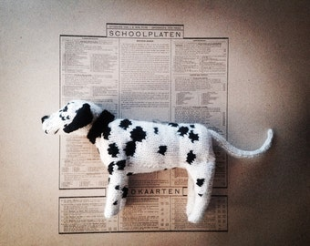 Knitted spotty dog - custom large