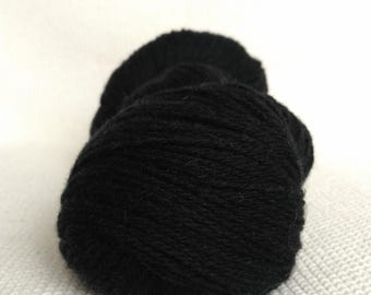 100% Wool Yarn , Fingering 3ply, dk, Mega-Yardage, Black, Kauni Yarn