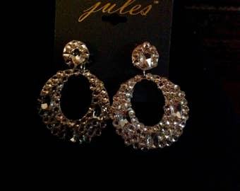 Swarovski Crystal Rhinestone Pageant Prom special occasion earrings