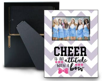 Cheer Picture Frame- Cheerleader Gift - Cheer Photo Frame -  Choose your Colors and Pattern