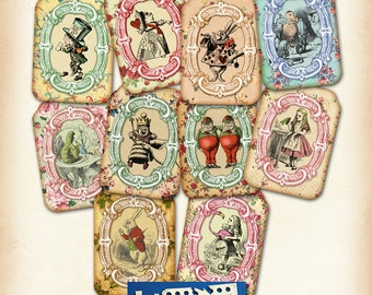 Alice Tags No 22A Alice in Wonderland Tags, labels, perfect for parties, presents and invitations.