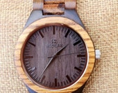 ON SALE Personalized Wooden Watch, Wood Watch,Groomsmen Gifts,engraved with personal text - Gift for Him/Her, Anniversary, Wedding gift