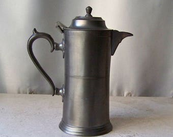 Vintage Pewter Tea Pot Steeping Pot Holds 2 cups 1980s