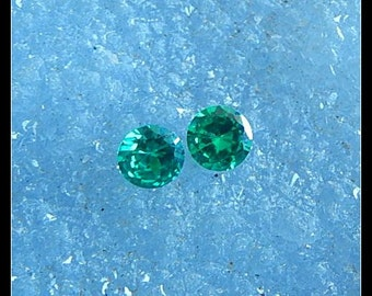 New,Zircon Faceted Cabochon Pair,6x6x3mm,0.8g