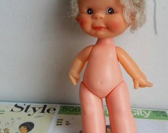 Odd little kitsch vintage pixie elf doll nude