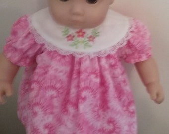 Bitty baby 15 inch american girl doll dress and bloomers pink tie die print