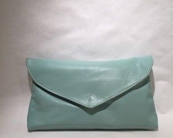 Vintage Leather Envelope Clutch