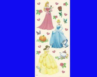 Disney Scrapbooking Stickers Princesses Aurora (Sleeping Beauty) Cinderella Belle (Beauty)