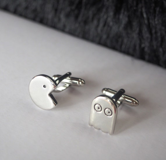 Pac-man & Ghost CUFFLINKS