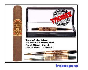 Handcrafted  Cigar Band Pen - Oliva Series V Premium High Quality Gift for a Cigar Smoker Perfect Present for  for a Man that Smokes