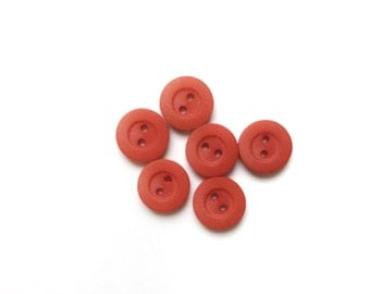 6 Red Vintage Fancy Buttons