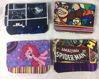 6 different cotton wallets