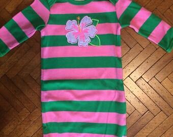 Newborn sleep gown, baby shower gift, baby girl outfit, newborn outfit, cute bay outfit, newborn sleep sack