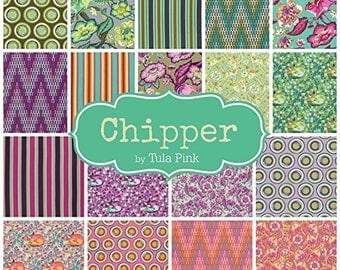 Free Spirit, Tula Pink, Chipper Collection Fat Quarter Pack of 18