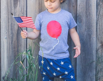 Boys patriotic Harem Shorts red white and blue Stars baby toddler kids 3 6 9 12 18 24 months 2T 3T 4T 5T Fourth of July