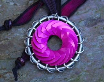 Pink Turbine Pendant Scalemaille