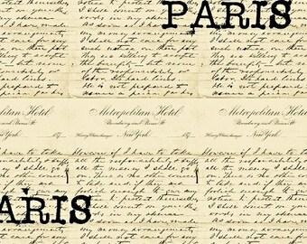 Destination Paris Words in Cream 42496-2 by Whistler Studios for Windham Fabrics