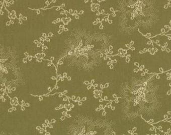 SALE 1 Fat Quarter of Audra's Iris Garden Leaf Etched Light Green by Brannock and Patek for Moda LAST ONE