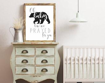 8x10 Calligraphy Print - Baby Bear