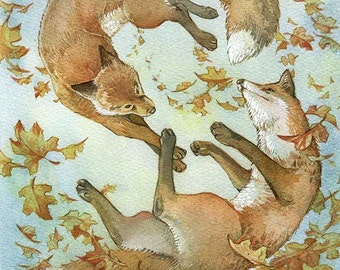 If wishes were foxes - matted print